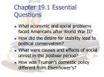 chapter 19 1 essential questions