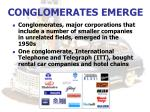 conglomerates emerge