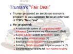 truman s fair deal