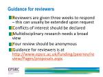 guidance for reviewers