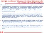 strength in software telecommunications microelectronics and advanced security technologies2
