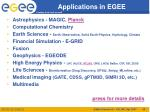 applications in egee