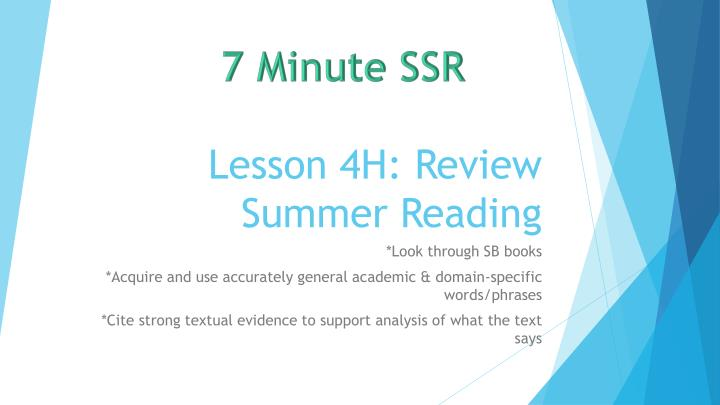 lesson 4h review summer reading n.