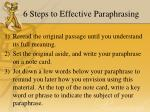 6 steps to effective paraphrasing