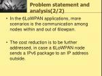 problem statement and analysis 2 2