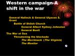 western campaign a shift in the war