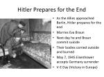 hitler prepares for the end