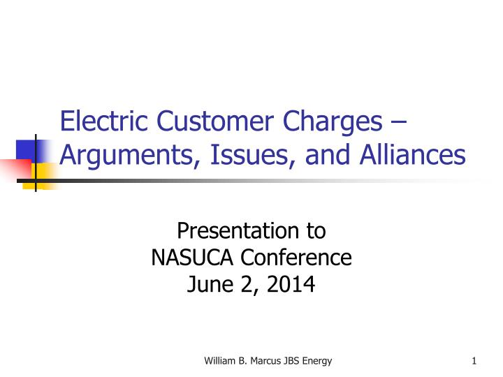 electric customer charges arguments issues and alliances n.