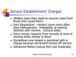 service establishment charges
