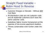 straight fixed variable robin hood in reverse