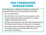 tda fundraiser suggestions