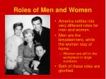 roles of men and women