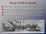 navy north vs south