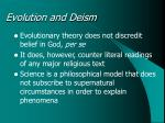 evolution and deism