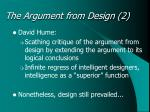 the argument from design 2