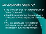 the naturalistic fallacy 2