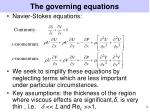 the governing equations