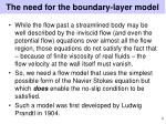 the need for the boundary layer model