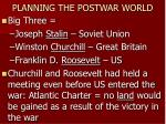 planning the postwar world