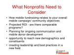 what nonprofits need to consider