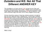 outsiders and ike not all that different answer key