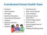 coordinated school health team