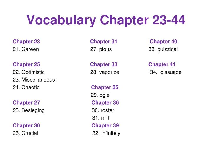 vocabulary chapter 23 44 n.