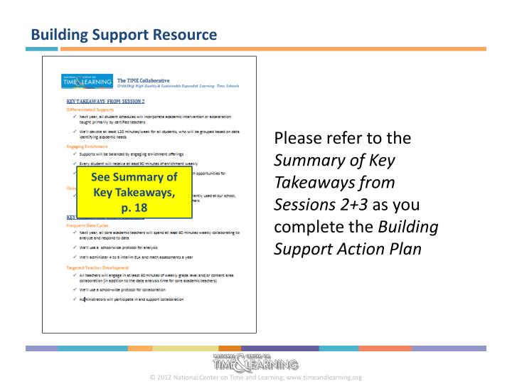 Building Support Resource