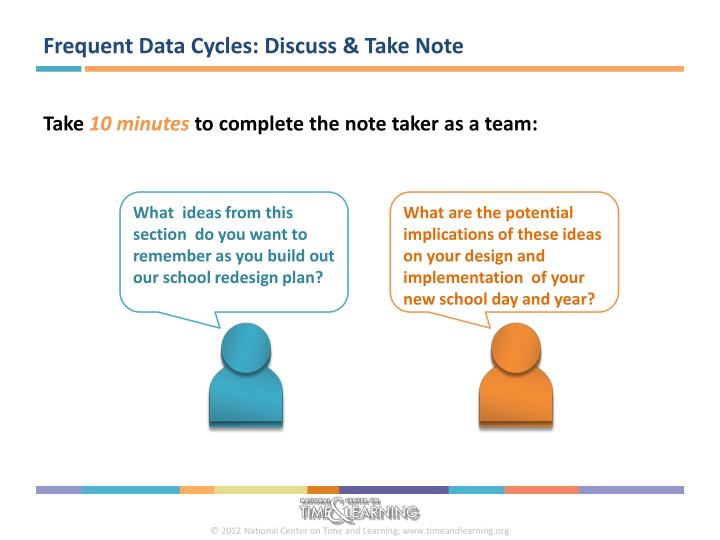 Frequent Data Cycles: Discuss & Take Note