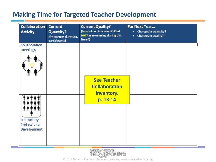 Making Time for Targeted Teacher Development