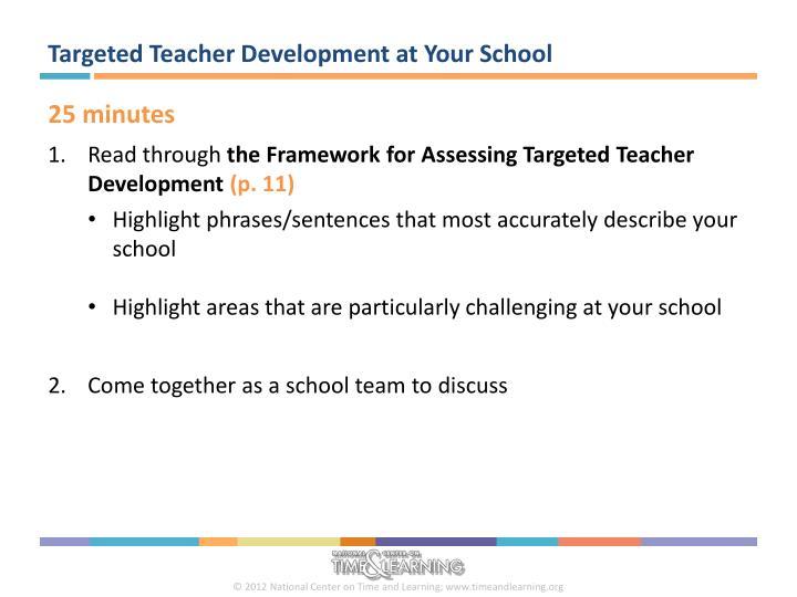 Targeted Teacher Development at Your School