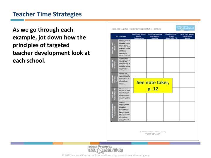 Teacher Time Strategies