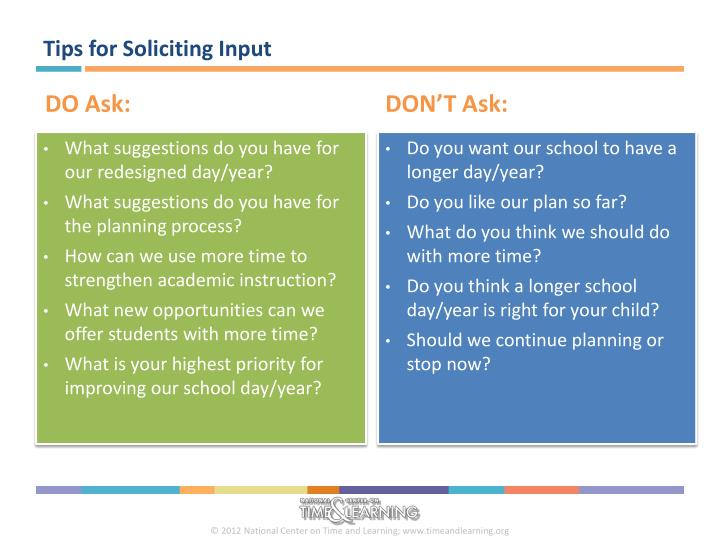 Tips for Soliciting Input
