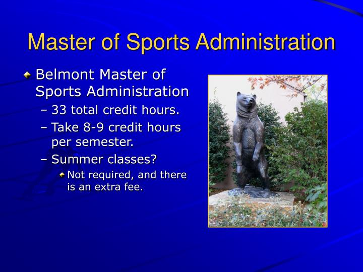 Master of Sports Administration