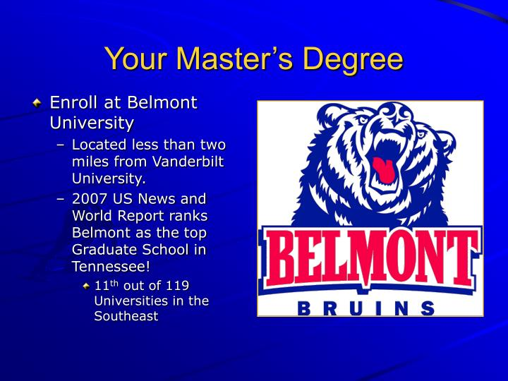 Your Master's Degree
