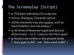 the screenplay script8