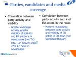 parties candidates and media coverage
