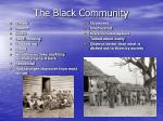 the black community