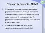 etapy post powania arimr1