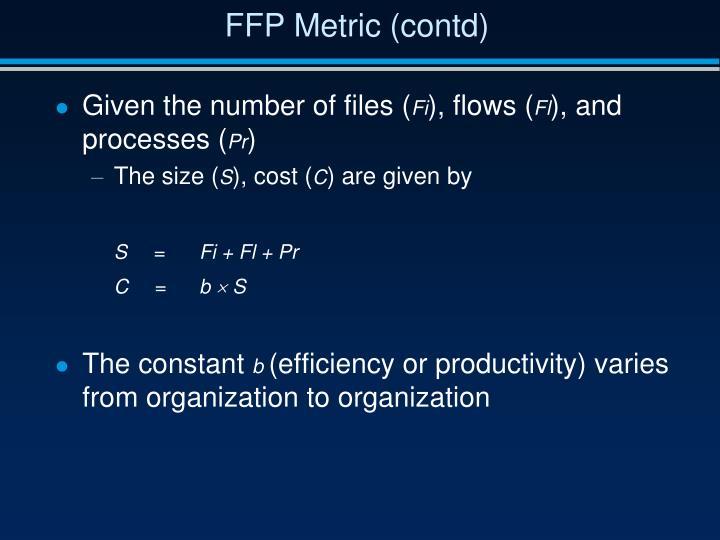 FFP Metric (contd)
