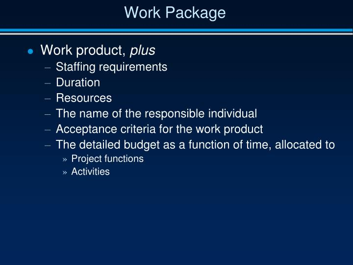 Work Package