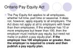 ontario pay equity act
