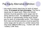 pay equity alternative definition