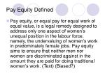 pay equity defined