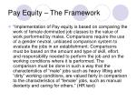 pay equity the framework