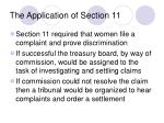 the application of section 11