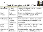 task examples 8re 2006