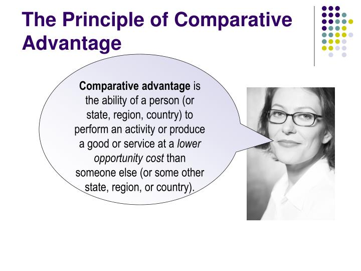 the principle of comparative advantage n.