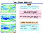 future climate 2030 19952