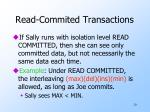 read commited transactions